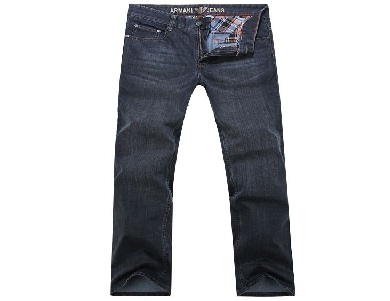 Armani-Mens-Wash-Black-Slim-Denim-Jeans-Straight-Leg