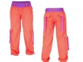 zumba-fusion-cargo-ii-pants-hot-coral-orange-purple-dance-zumbawear-small